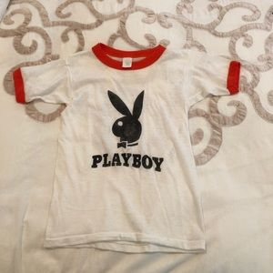 Vintage Playboy Bunny ringer tee